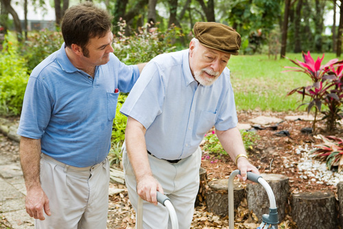 image of help and support of an alzheimers patient